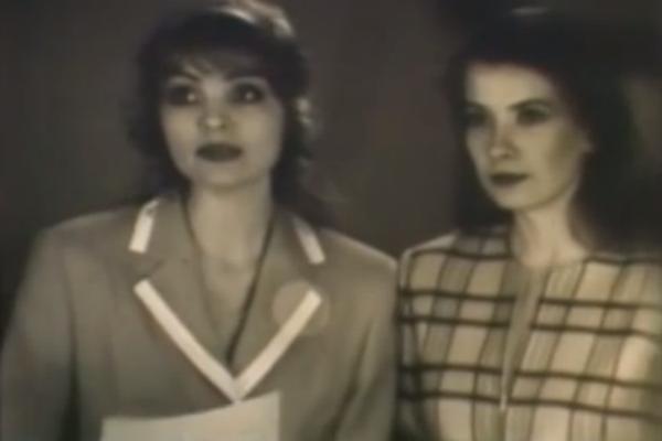 Юлия Высоцкая (справа) впервые на экране