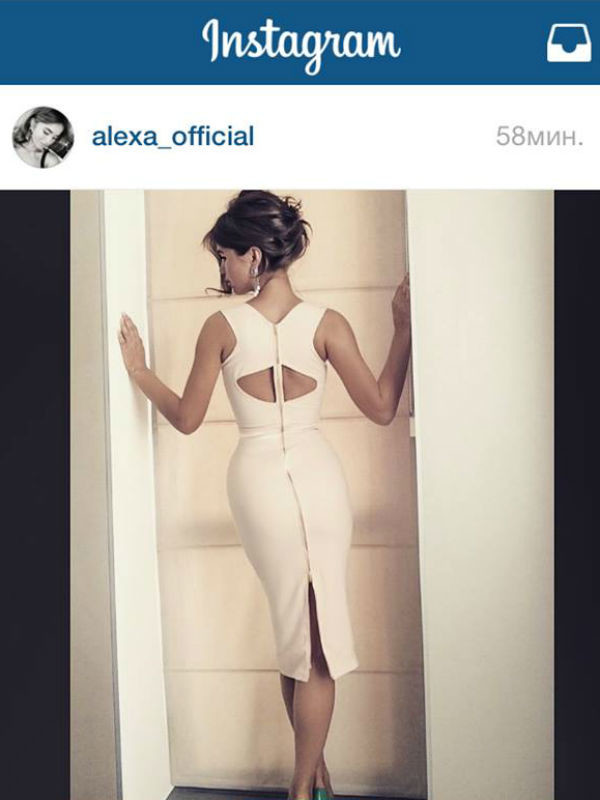 Первое платье, которое создала Алекса
