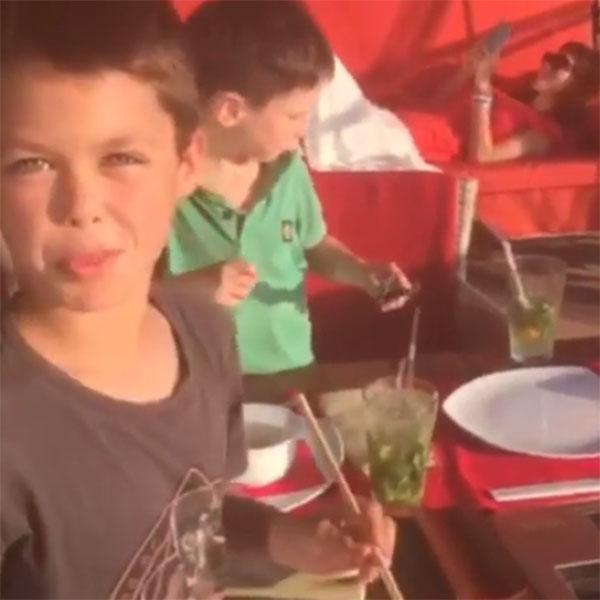 Старший сын актрисы Матвей приглашает всех к столу