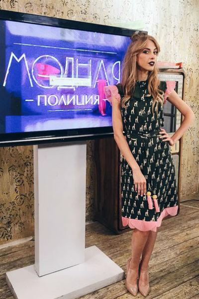 Надежда Сысоева на съемках шоу «Модная полиция»
