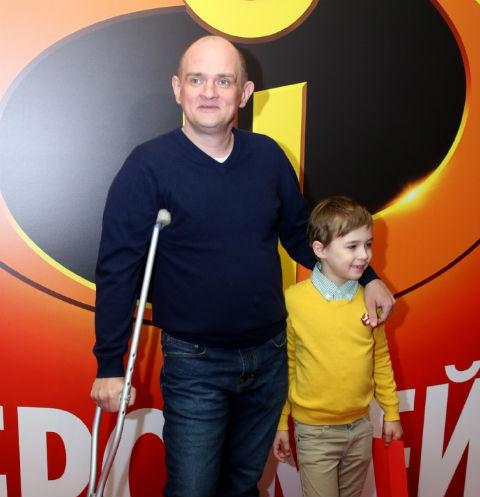 Сергей Фролов с сыном