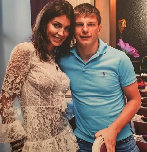 Андрей Аршавин с женой Алисой