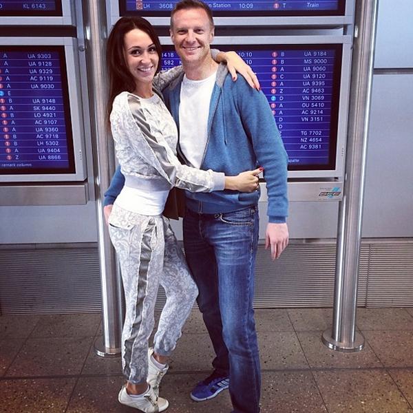 Пара перед отлетом в Лос-Анджелес