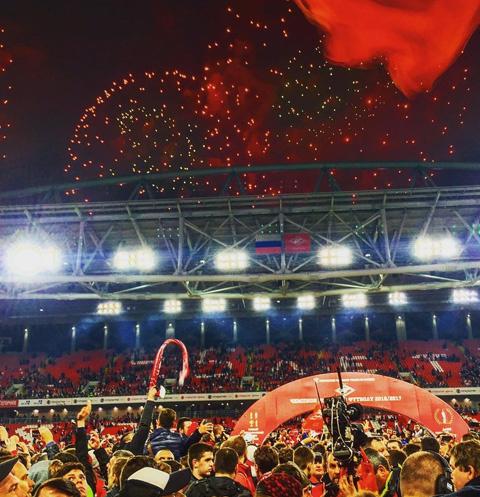 Фанаты красно-белых празднуют победу любимого клуба