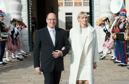 Князь Монако Альбер II и княгиня Шарлен