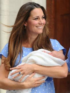 Герцогиня Кетрин с принцем Георгом