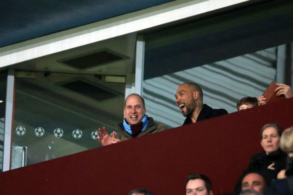 Принц Уильям на футбольном матче