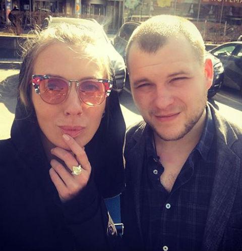 Светлана Бондарчук с сыном Сергеем