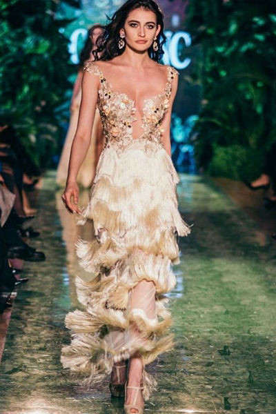 Платье Костенко вызвало восторг у гостей