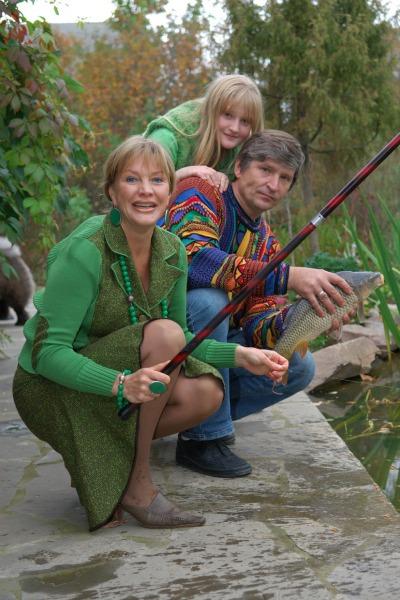 Елена Проклова с семьей