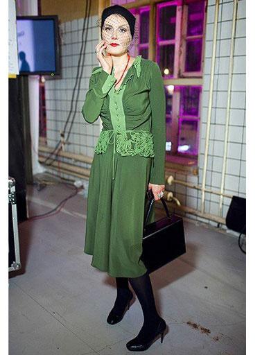 Рената Литвинова на показе Александра Терехова в рамках Недели моды Cycles&Seasons by MasterCard