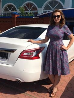 Ирина Александровна Агибалова с новой машиной