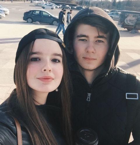 Саша Стриженова с возлюбленным Антоном Чурековым