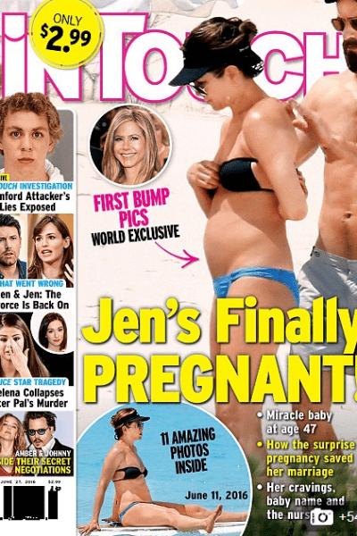 Поклонники Дженнифер порадовались возможной беременности актрисы