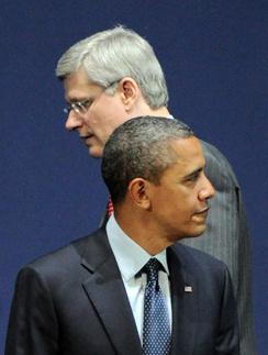 Барак Обама и Стивен Харпер