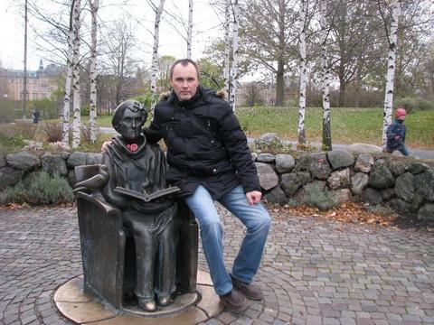 Владислав Черный (Таганрог) и памятник Астрид Линдгрен