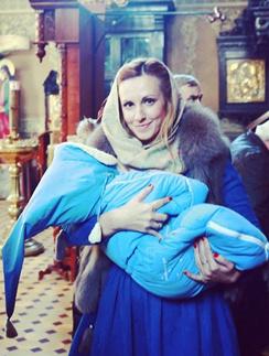 Ольга Гажиенко с сыном Кирюшей
