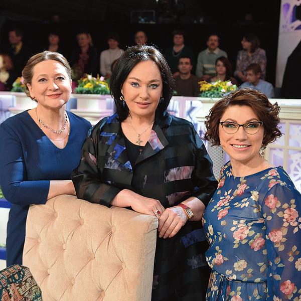 Лариса ведет программу «Давай поженимся!» с 2008 года. На фото – с коллегами Тамарой Глобой и Розой Сябитовой
