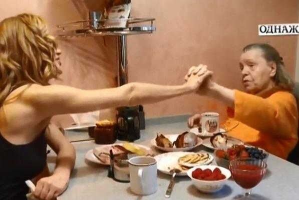 Певица часто навещает свою бабушку, Лидию Михайловну