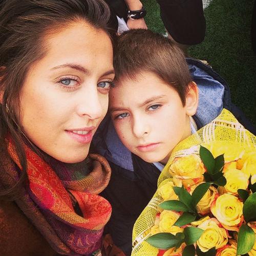 Анастасия Меськова с сыном Василием