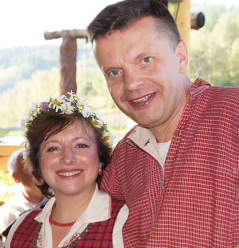 Елена Чекалова и Леонид Парфенов