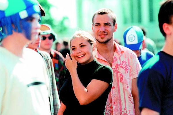 В одной из первых картин актриса снималась с Евгением Цыгановым. «Прогулка», 2003 год