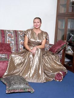 Гундарева любила заниматься дизайном интерьера. На фото актриса в своей квартире в центре столицы