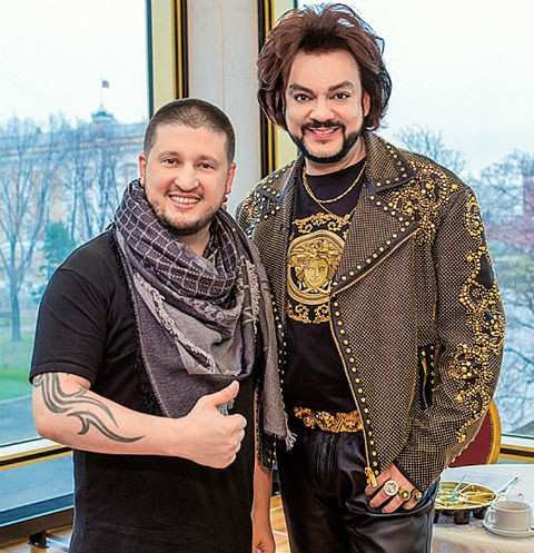 Ренат Агзамов с Филиппом Киркоровым