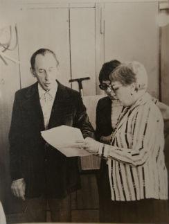 С Владимиром Басовым во время работы на ЦТ