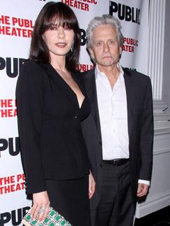 Кэтрин и Майкл на премьере в Нью-Йорке