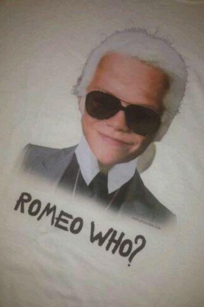 Ромео в образе известного кутюрье