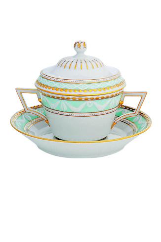 Konigliche Porzellan-Manufaktur Чаша суповая с блюдцем и крышкой «Курлянд-26», цена по запросу