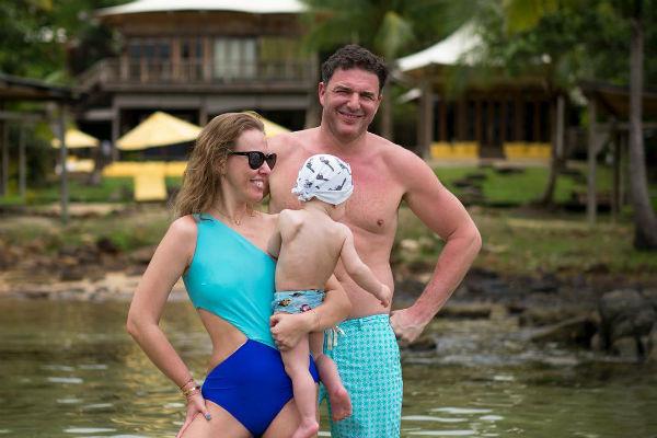 Ксения Собчак с мужем и сыном