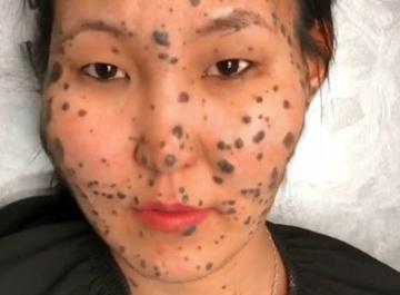 «Девушка-леопард» изменила внешность