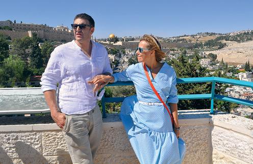 Во время прогулки на сигвеях мы проезжали самые красивые места Иерусалима и любовались видом на Старый город