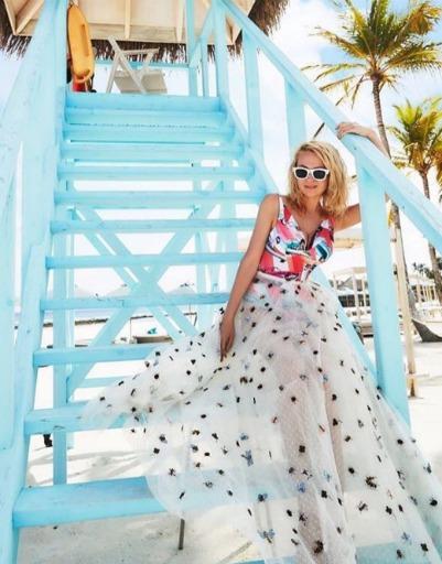 Яна Рудковская наслаждается климатом Мальдивских островов