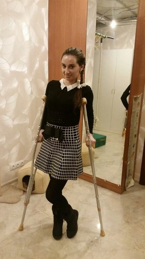 После ДТП Анастасия заново училась ходить