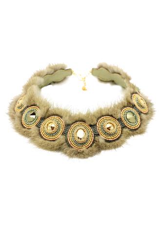 Hand Made Меховое ожерелье, 3500 руб.