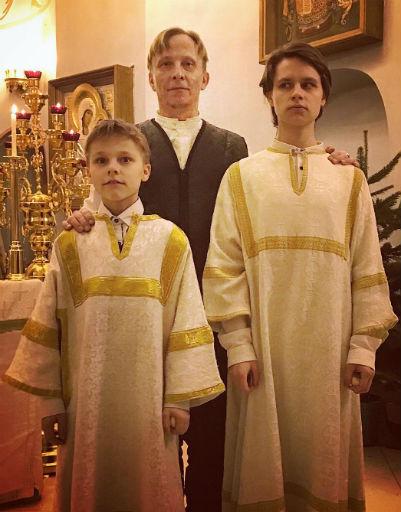 Иван Охлобыстин с сыновьями