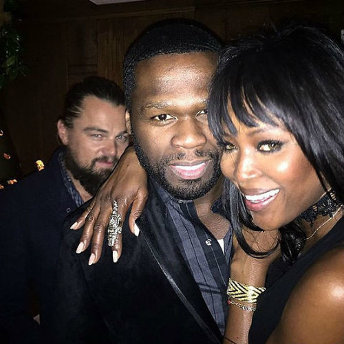 Леонардо Ди Каприо, рэпер 50 Cent и Наоми Кэмпбелл