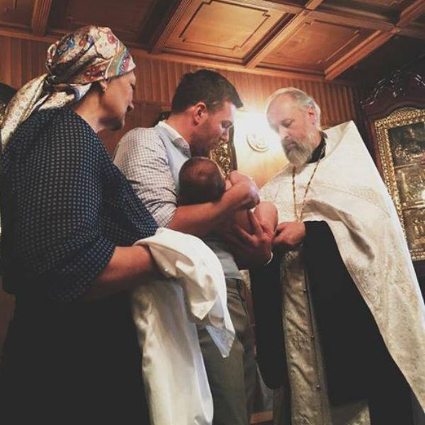 Андрей Искорев стал крестным отцом для мальчика