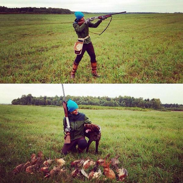 Дени на охоте