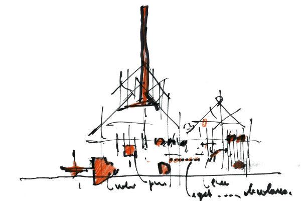 Эскизы архитектора Ренцо Пьяно уже вошли в историю реконструкции