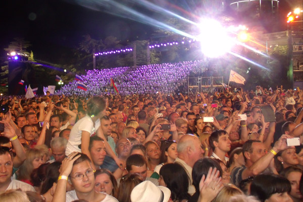Зрители концерта