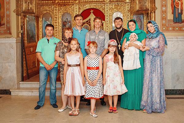 Семья Павлюченко с близкими