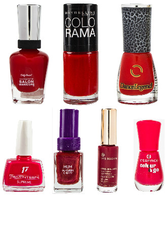 Лак для ногтей: Salon Manicure от Sally Hansen, 450 руб. Colorama от Maybelline NY, 99 руб. Dance Legend, 300руб. Super Shine от Seventeen, 199 руб. Christina Fitzgerald, 860 руб. Yves Rocher, 199 руб. essence, 90 руб.