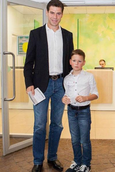Дмитрий Дюжев с сыном