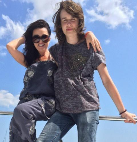 Анастасия Заворотнюк с сыном Майком
