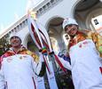Татьяна Навка и другие звезды на финальном этапе олимпийской эстафеты