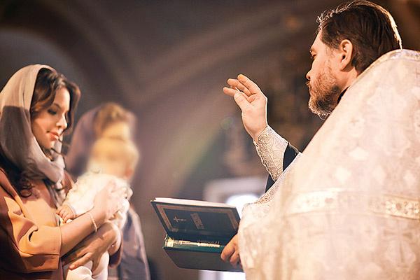 На крещении присутствовали только самые близкие
